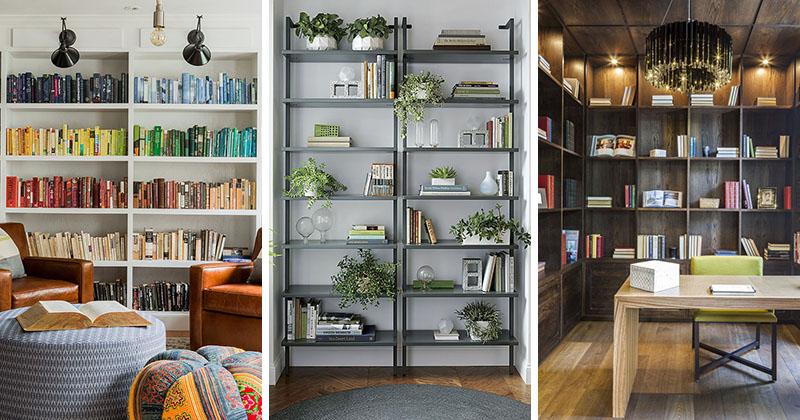 ideias organizar prateleiras e estantes