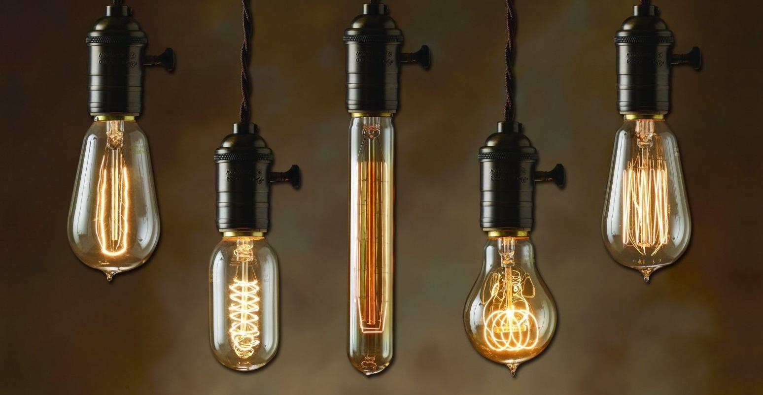 lâmpada com filamento de carbono