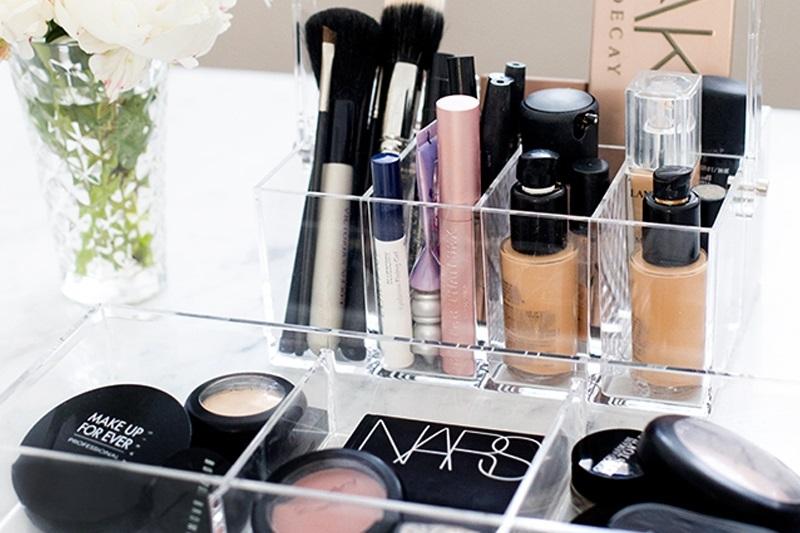 dicas organizar maquiagens