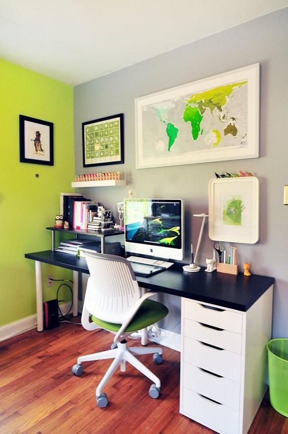 cores das paredes home office