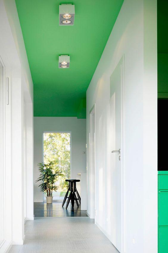 teto colorido corredor tendência
