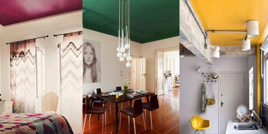 teto colorido tendência decoração