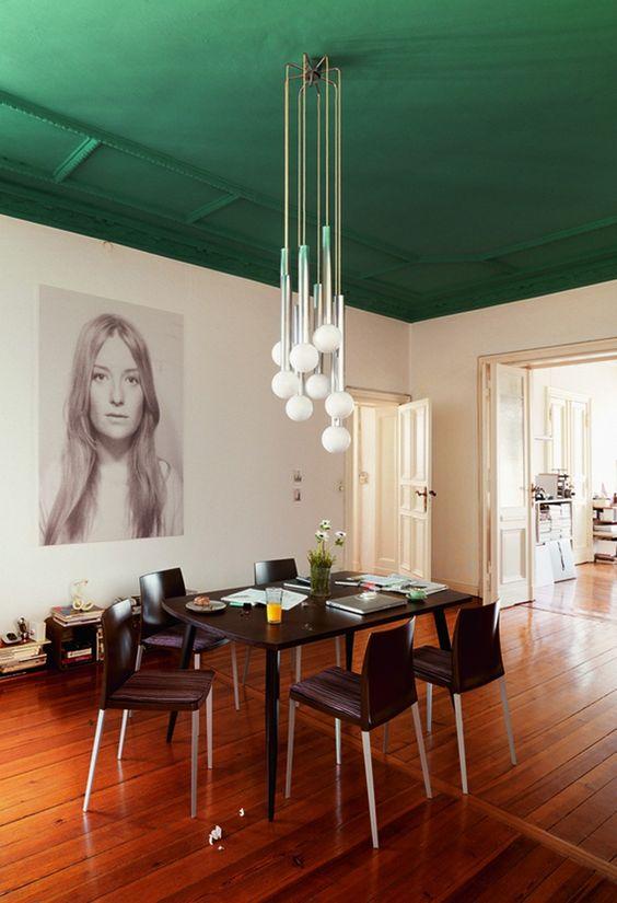teto colorido sala
