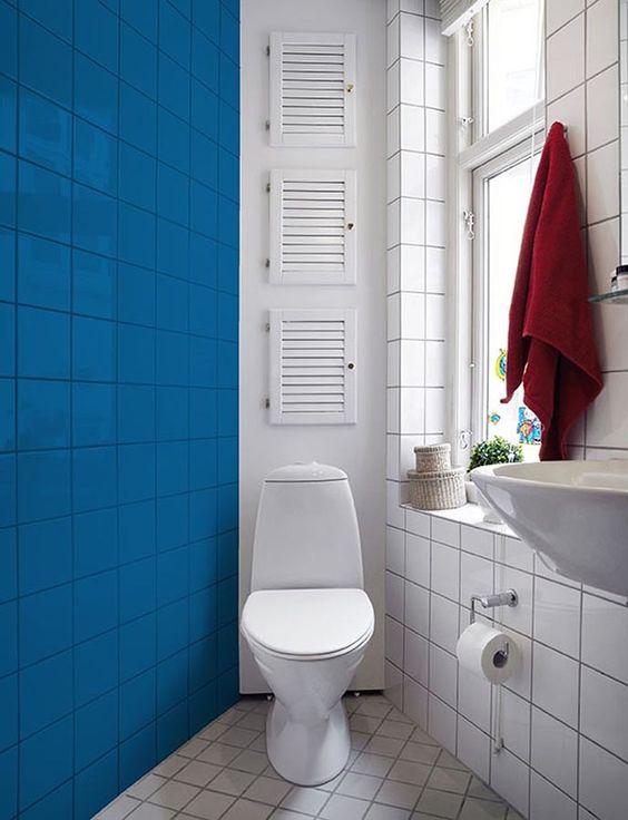 decoração fácil banheiro azulejo