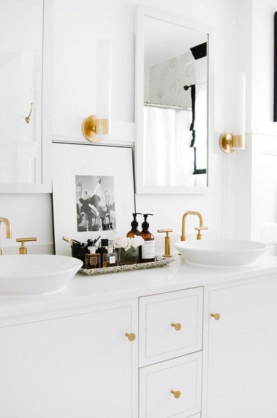 decoração fácil banheiro cuba