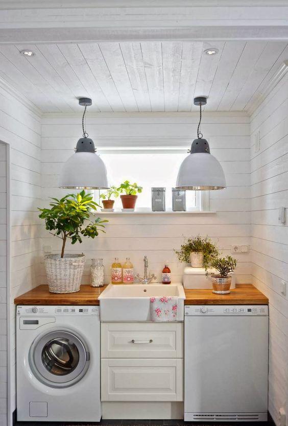 iluminação residencial ideia área de serviço