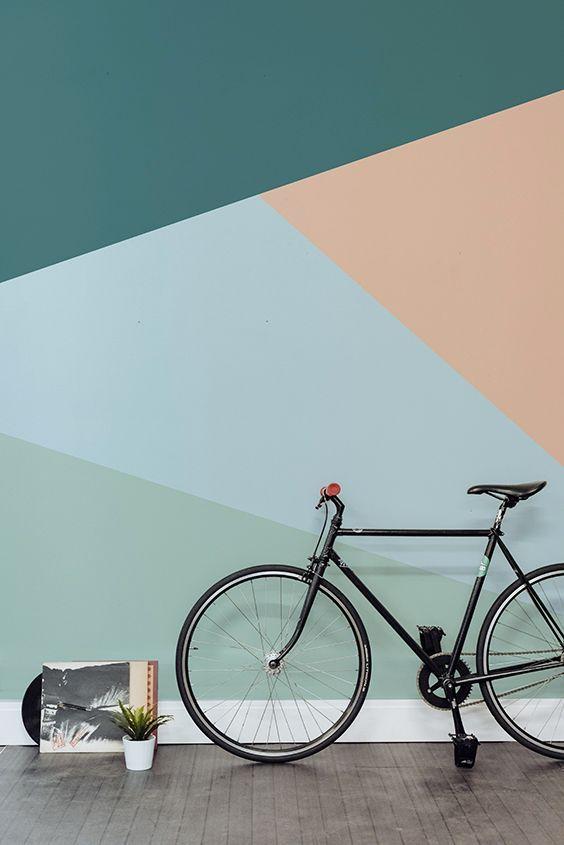 paredes geométricas pastel
