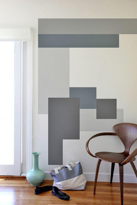 paredes geométricas quadrados