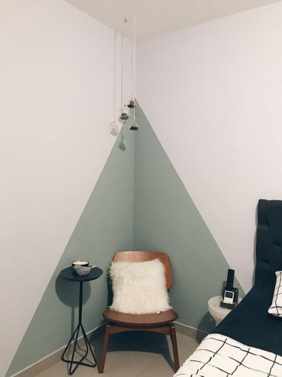paredes geométricas quarto