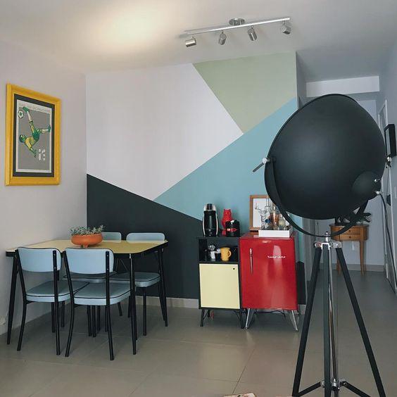 paredes geométricas sala copa