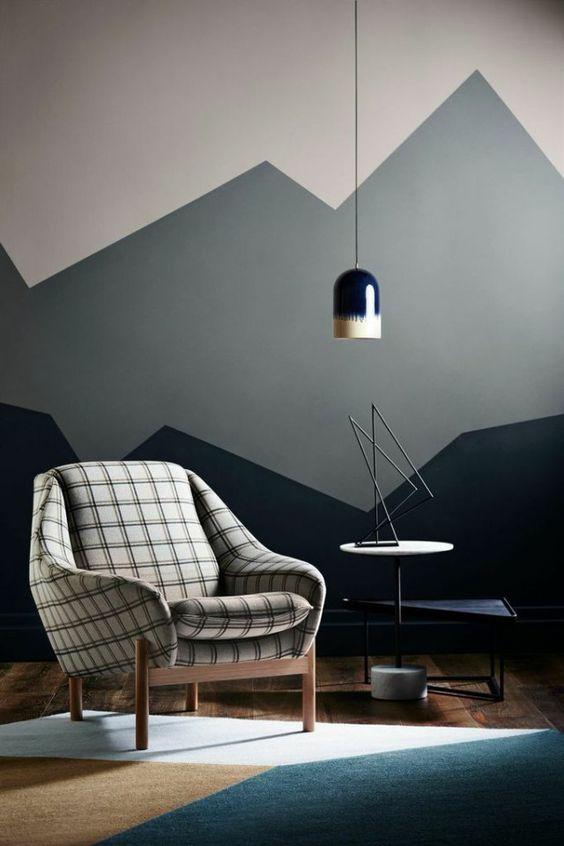 paredes geométricas sala