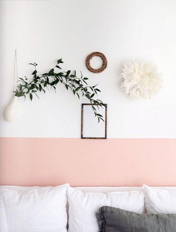 parede colorida duas cores