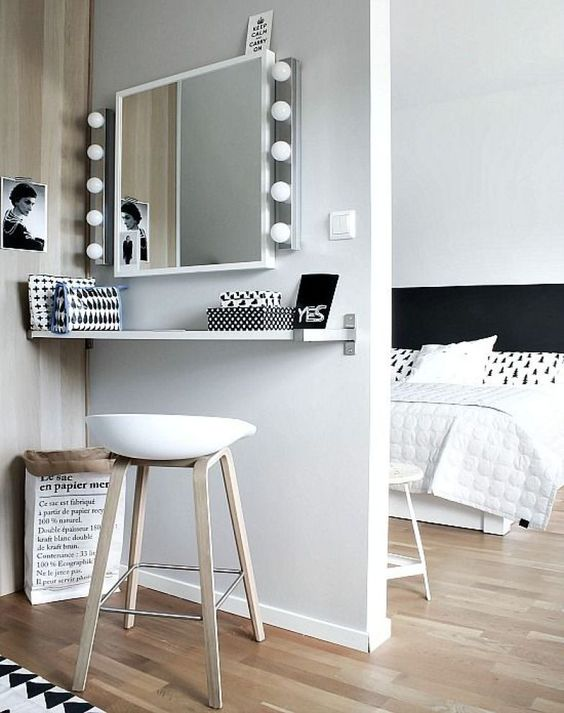 ideias apartamento pequeno penteadeira