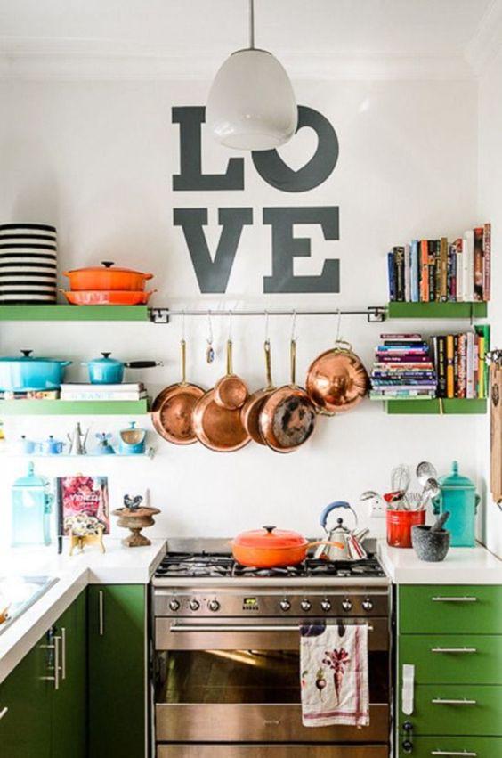 dica cozinha panelas penduradas