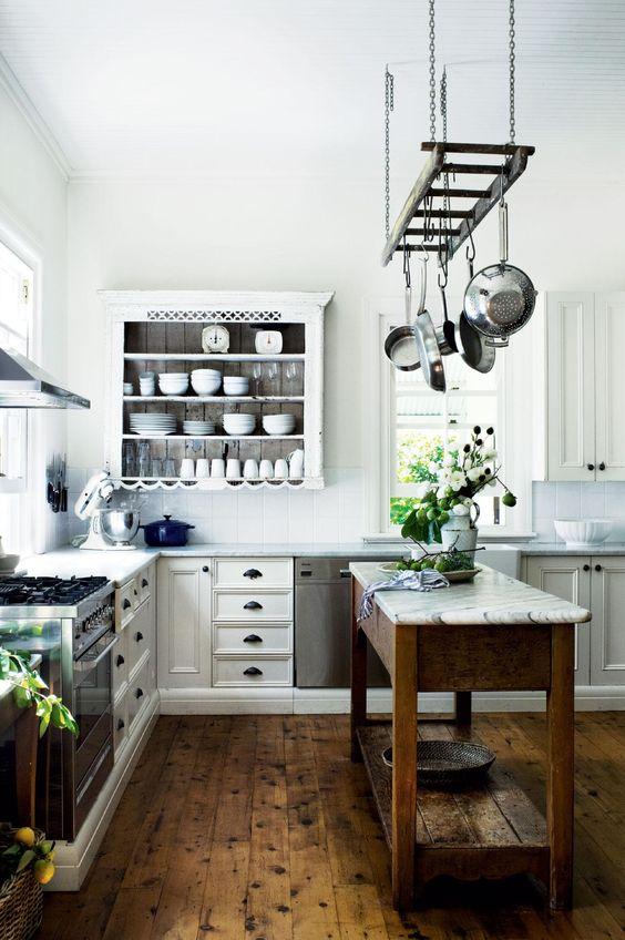 dicas cozinha pendurar panelas