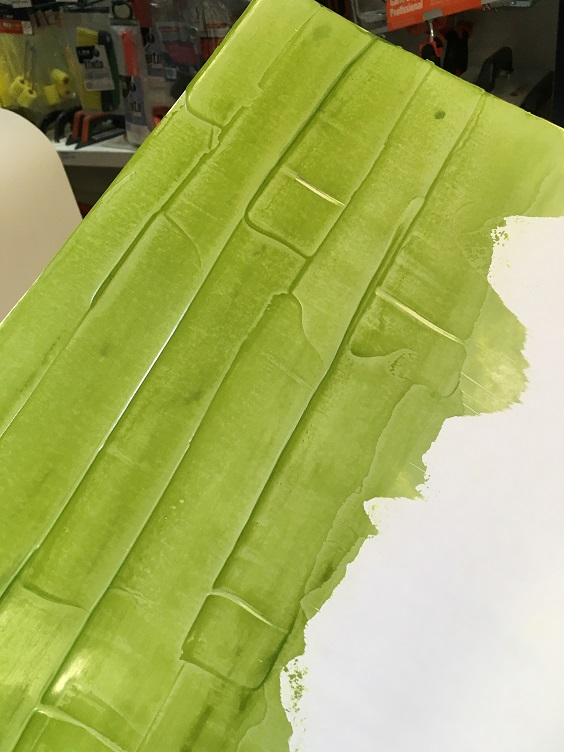 efeito bambu aplicado sobre papel