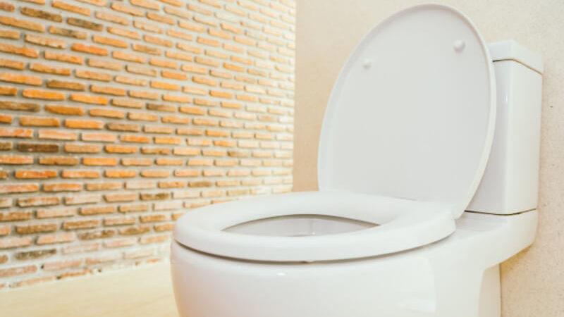 Vaso sanitário em banheiro