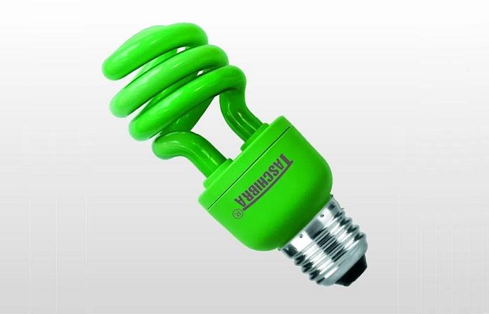 Lâmpada Fluorescente Espiral Verde