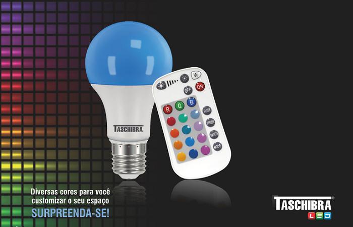 Lâmpada LED RGB com controle remoto