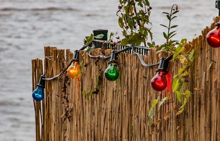 lâmpadas coloridas para decoração