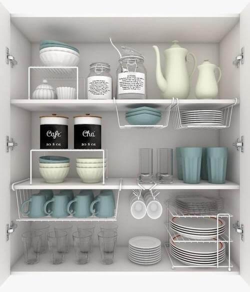 Organizador de armário de cozinha