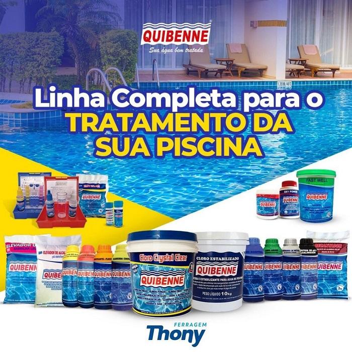 produtos para limpeza da piscina